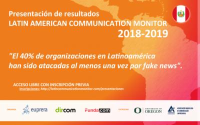 Nota de prensa: Presentación de los resultados del #LCM 2018-2019 en Perú.