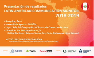 Presentación de los resultados del #LCM 2018-2019 en #Peru, #Arequipa.