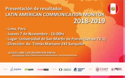 Presentación de los resultados del #LCM 2018-2019 en Lima, Perú.