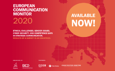 ¡Los resultados del European Communication Monitor 2020 están disponibles!