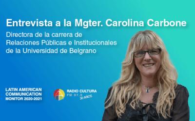 Mgter. Carolina Carbone: invitación a la edición del #LCM 2020-2021