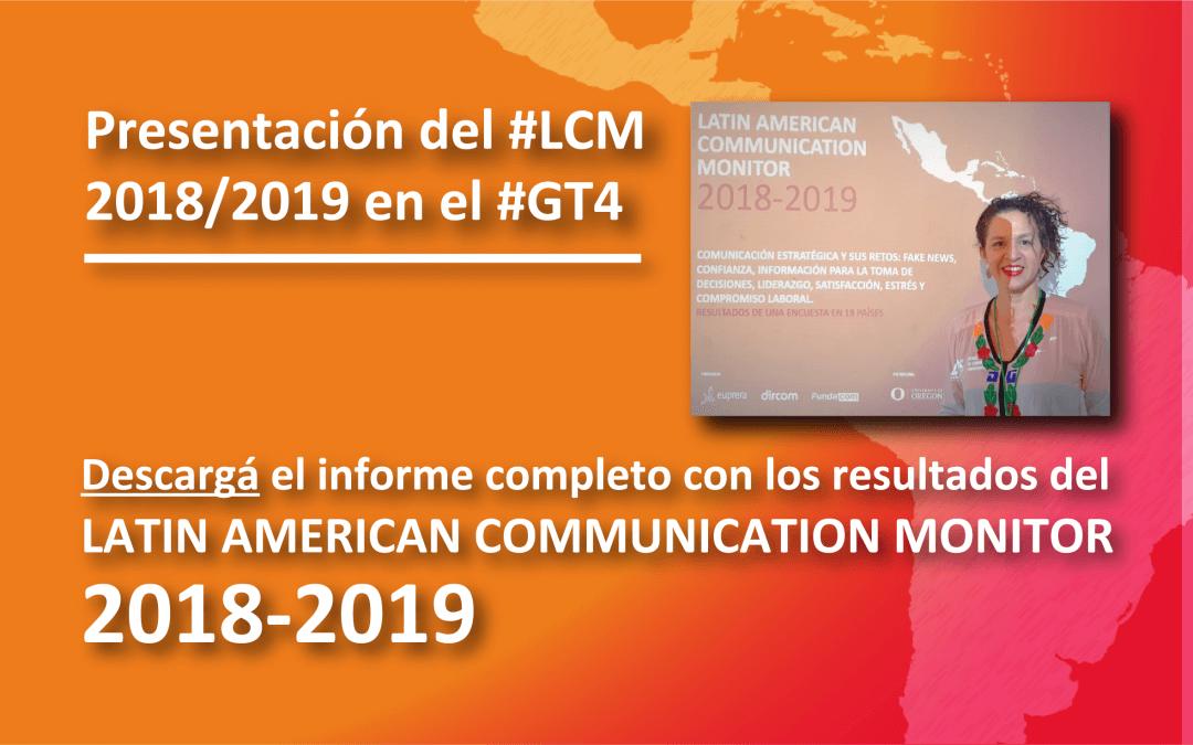 """Presentación del #LCM 2018/2019 , en el GT4 """"Comunicación organizacional, publicidad y mercadeo"""" (ACICOM)"""